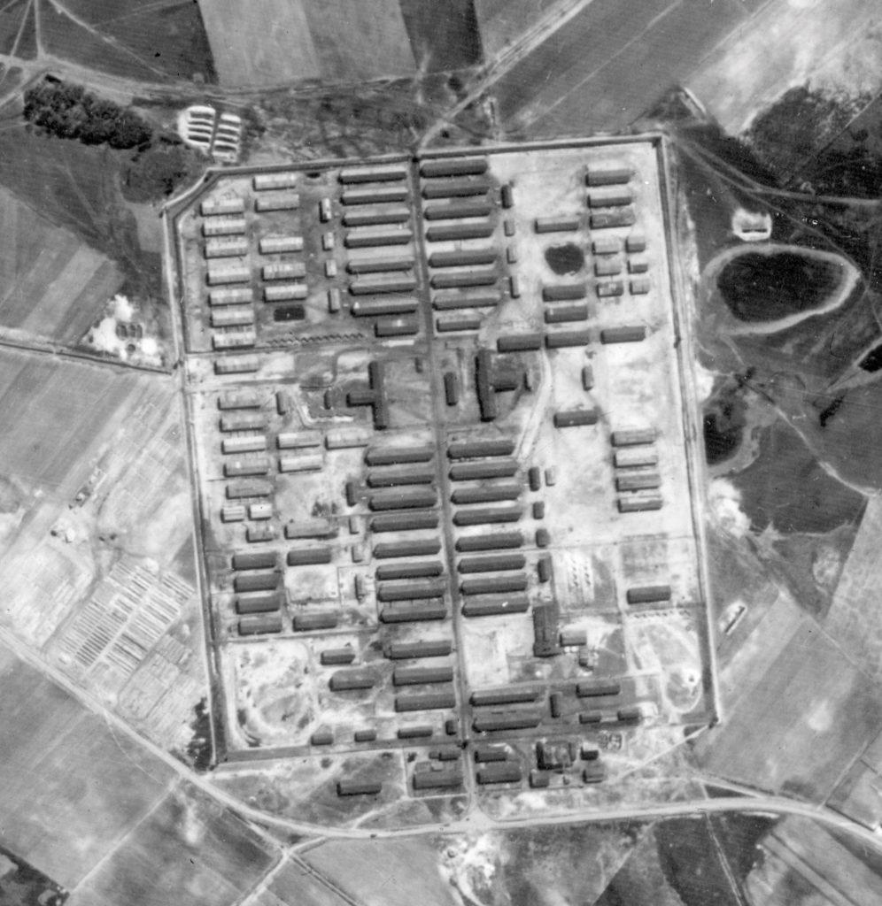 Luftaufnahme des Stalags von 1945